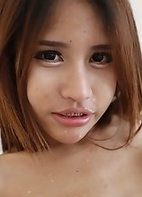 19yo busty Thai ladyboy fucks and sucks white cock