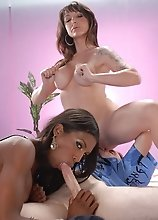 Danielle having some fun with Natassia and a guy