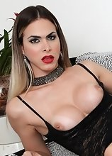 Look at longhaired, dirty blonde Barbara Perez: In lacy lingerie, the English-speaking Brazilian bombshell, 24, shows off a big smile and tan-lined ti