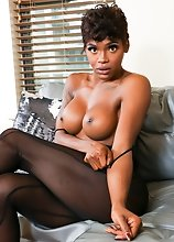 Young ebony tgirl Kendra Kellz loves showing off her amazing body and her juicy ass! Watch her posing, stripping and stroking her cock until she cums!