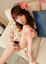 Serina is a hot Japanese tgirl with a big cock that gets really hard for you. Watch her stroke it and enjoy it!