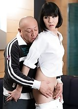 Japanese ladyboy Yoko is getting aroused and she loves that.